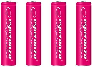 Esperanza Rechargaeble Batteries 4x AAA 1000mAh Red