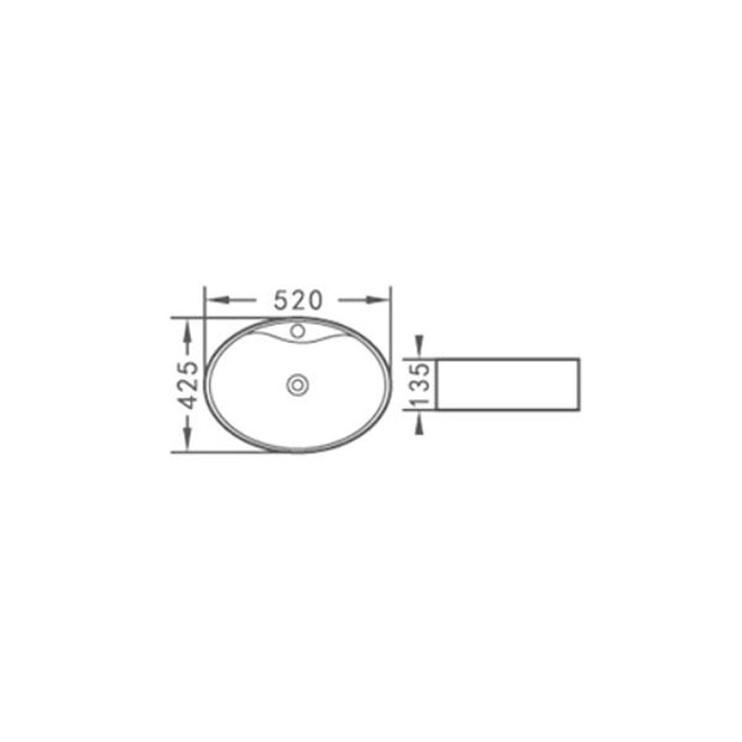 Izlietne Aquacubic ACB8041 52x43x14cm, balta