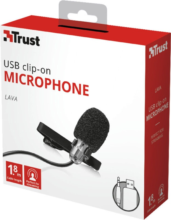 Trust Lava USB Clip-On Microphone