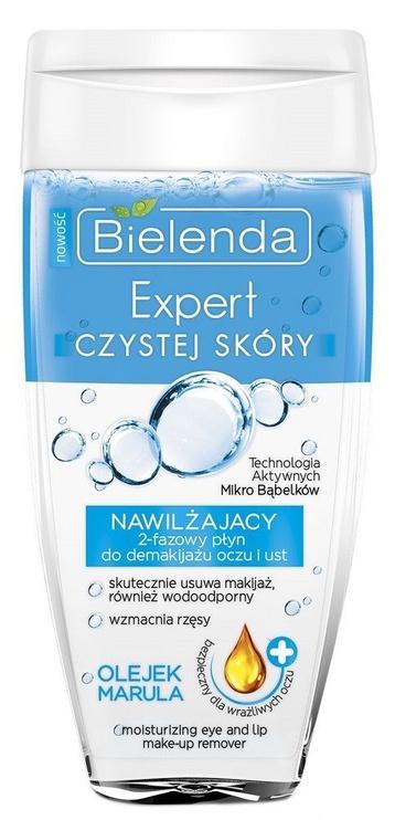 Makiažo valiklis Bielenda Clean Skin Expert Moisturizing 2-phase Eye And Lip Make-up Remover With Marula Oil, 150 ml