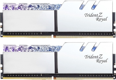 G.SKILL Trident Z Royal Silver 16GB 3200MHz CL16 DDR4 KIT OF 2 Series F4-3200C16D-16GTRS