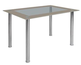 Обеденный стол Black Red White Brake 2, прозрачный, 1200x800x750мм