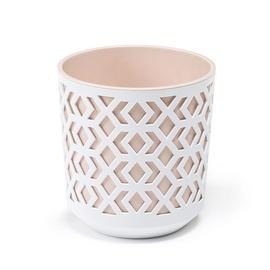 Вазон AZTEK 792 250-46, белый/розовый/песочный