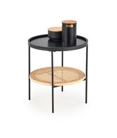 Kavos staliukas Halmar Kampa Natural/Black, 450x450x450 mm