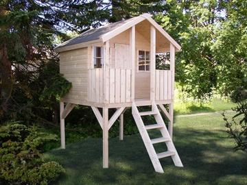 4IQ Wooden Play House Sun Bunny