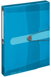 Herlitz Document Box Easy Orga A4 Transparent Blue 11206141