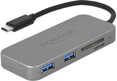 Delock 2-Port USB 3.0 Hub + Card Reader + Type-C 64064