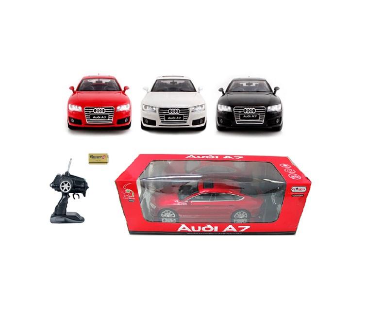 Žaislinė mašina Audi A7, raudona, balta, juoda