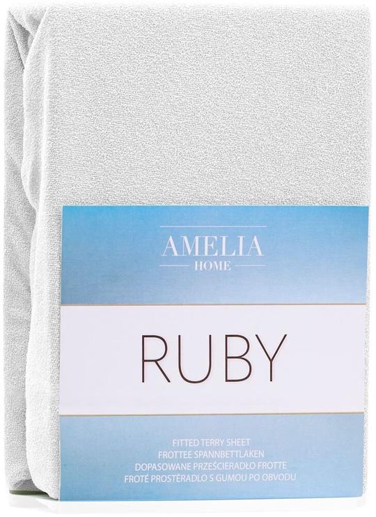 Palags AmeliaHome Ruby, balta, 140x200 cm, ar gumiju