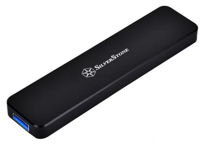 SilverStone External Enclosure MS09 M.2 SSD Black