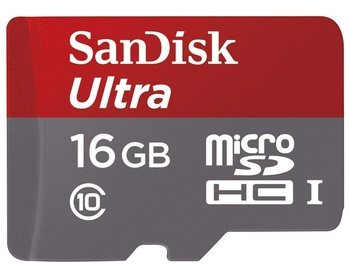 SanDisk 16GB Ultra Micro SDHC Class 10 UHS-I + Adapter