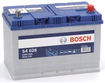 Akumuliatorius Bosch S4 028, 12 V, 95 Ah, 830 A