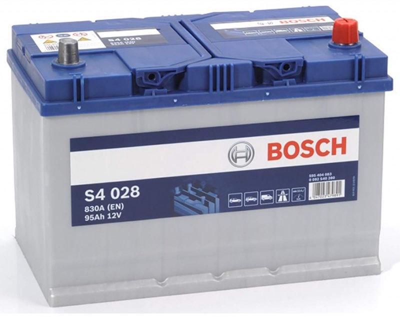Аккумулятор Bosch S4 028, 12 В, 95 Ач, 830 а