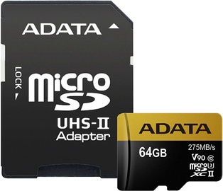 A-Data 64GB Premier One microSDXC Class 10 UHS-II U3 + Adapter