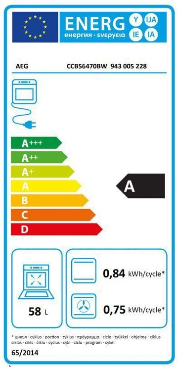 Elektriskā plīts AEG CCB56470BW