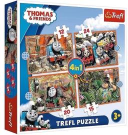 Trefl 4-in-1 Puzzle Thomas & Friends 12/15/20/24/pcs 34354