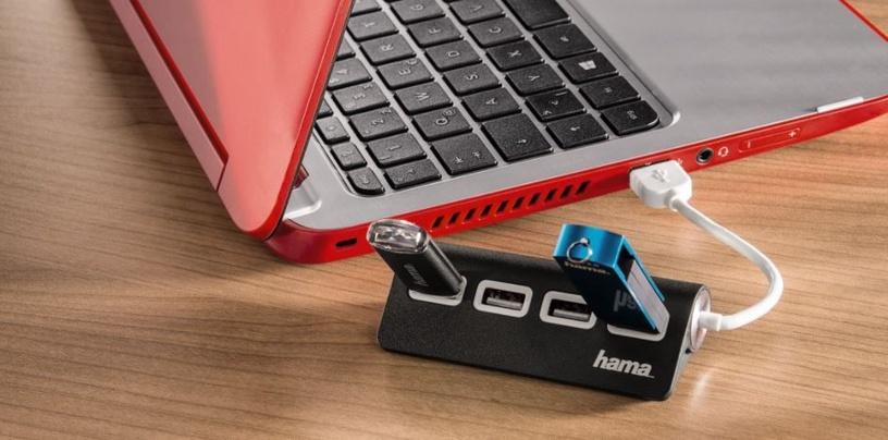 USB-разветвитель (USB-hub) Hama USB 2.0 Hub 4-ports Bus Powered Black
