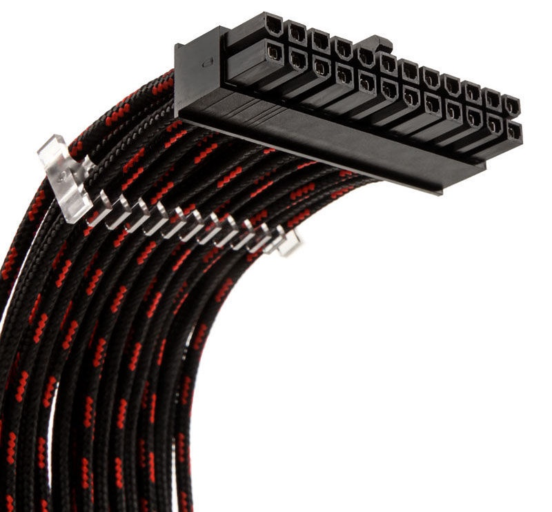 Phanteks Extension Cable Set 500mm S-Pattern Black/Red