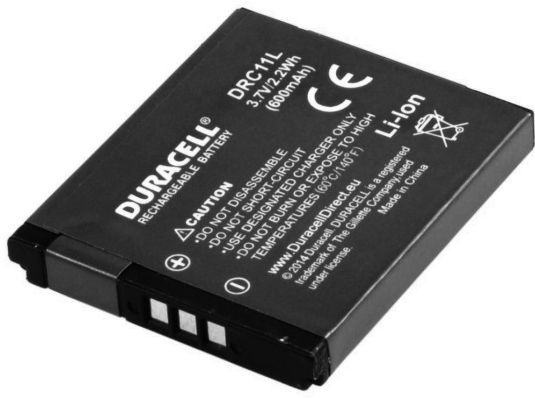 Aku Duracell Premium Battery For Canon ixus 125/132 PowerShot A2300/SX400 600mAh