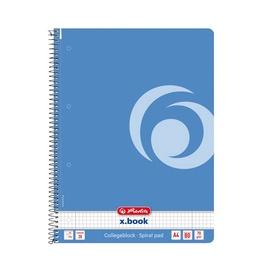 Herlitz Spiral Notepad A4/80p Blue