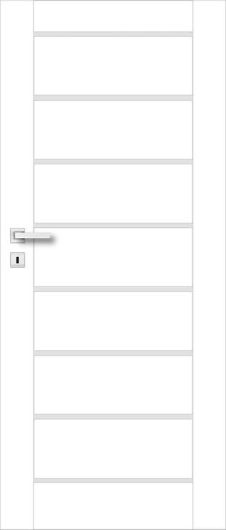 Полотно межкомнатной двери PerfectDoor MIRA 01, белый/дубовый, 203.5 см x 64.4 см x 4 см