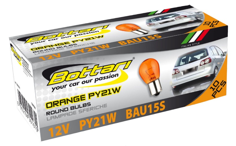 Bottari 12V PY21W BAU15S Round Orange 10pcs 30167X