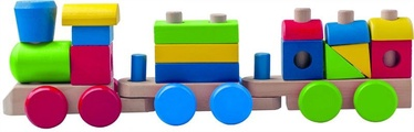 Klucīši Woodyland Train with Wooden Blocks
