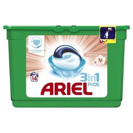 Skalbimo kapsulės Ariel Sensitive 3 in 1, 14 vnt.