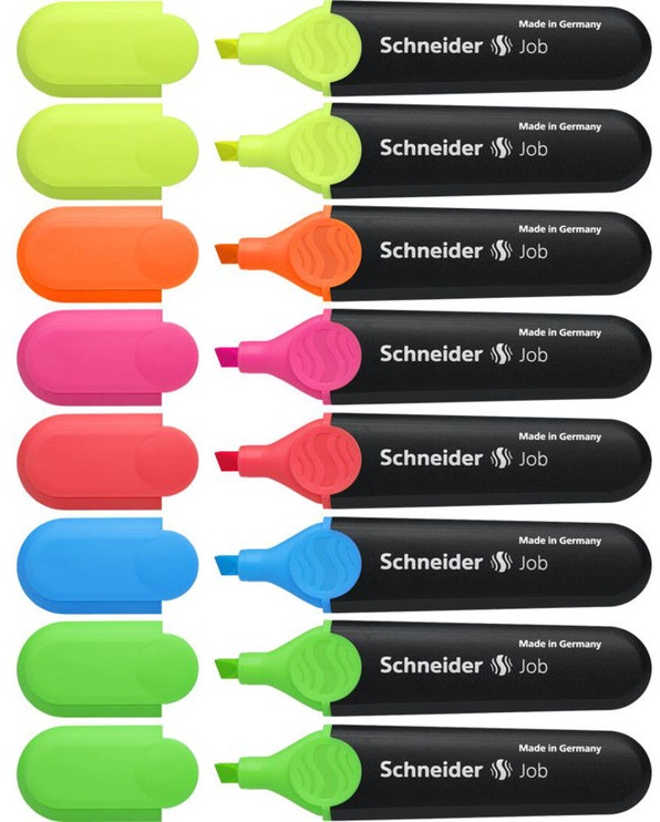 Schneider Pen Job Highlighter 8pcs 115088