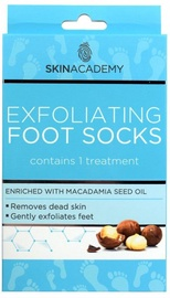 Skin Academy Exfoliating Foot Socks Macadamia Nut 1pcs