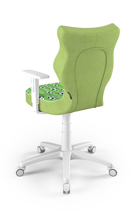 Детский стул Entelo Duo ST29, белый/зеленый, 370 мм x 1000 мм