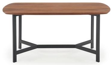 Обеденный стол Halmar Norton, черный/ореховый, 160x90x76мм