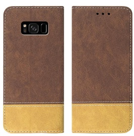 Mocco Suede Book Case For Huawei P30 Brown