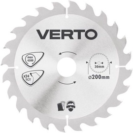 Verto Circular Saw Blade 200x30mm 24T