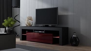 ТВ стол Pro Meble Milano 160 With Light Black/Red, 1600x350x450 мм