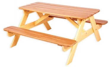 Folkland Timber Children Picnick Table Yellow/Brown