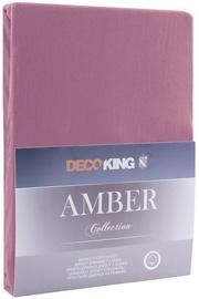 Palags DecoKing Amber Plum, 220x200 cm, ar gumiju