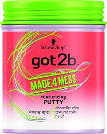 Schwarzkopf Got2b Made 4 Mess Texturizing Putty 100ml