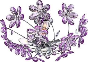 Lubinis šviestuvas Globo Purple 5142, 3X40W, E14