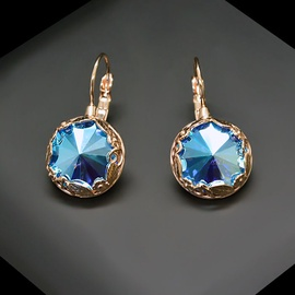 Diamond Sky Earrings With Crystals From Swarowski Sunny Garden Sapphire Shimmer