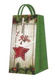 Paw Decor Collection Gift Bag Christmas And Stars