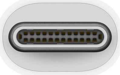 Apple Thunderbolt 3 USB-C To Thunderbolt 2 Adapter White