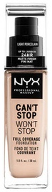 NYX Can't Stop Won't Stop Full Coverage Foundation 30ml Light Porcelain