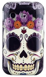 Zooky Silicone Back Case With Skulls Art Design Samsung Galaxy Young