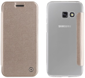 Muvit Folio Cover For Samsung Galaxy A3 A320 Gold
