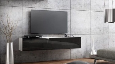 TV staliukas Pro Meble Milano Wall 160 White/Black, 1600x320x300 mm