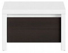 Ночной столик Black Red White Kaspian, коричневый/белый, 51x40.5x33.5 см
