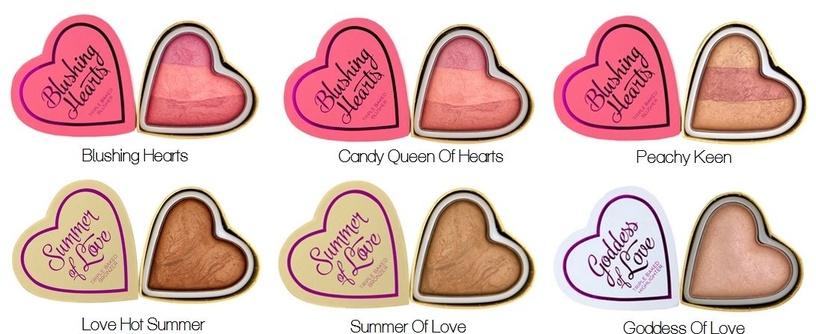 Makeup Revolution London Blushing Hearts Baked Blusher 10g Blushing Heart