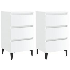 Ночной столик VLX High Gloss 805918, белый, 35x40x69 см