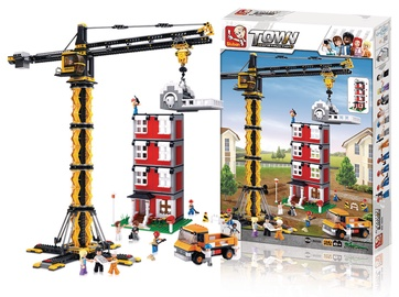 Sluban Town Tower Crane 1461pcs M38-B0555